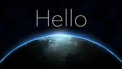 Hello World çok klasik ama
